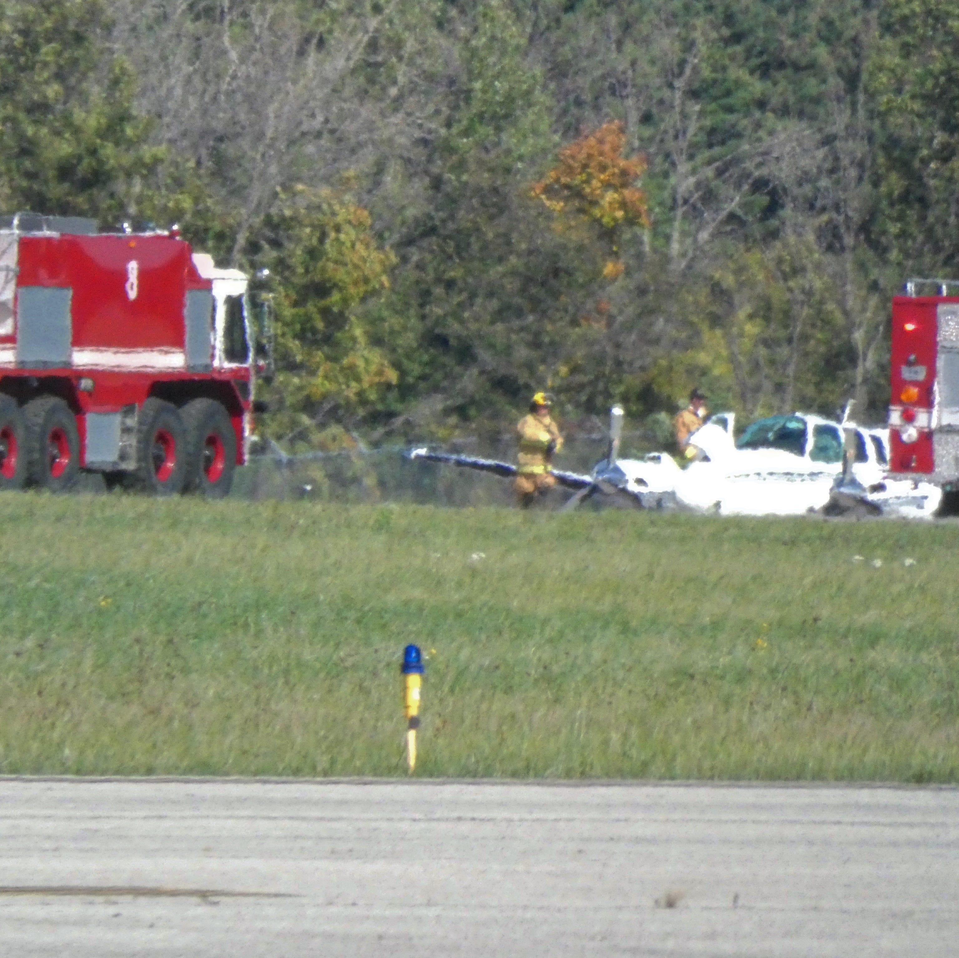 Emergency landing at Lahm Airport; no injuries