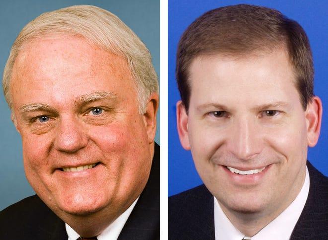 Republican U.S. Rep Jim Sensenbrenner (left) and his Democratic challenger Tom Palzewicz.