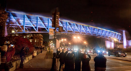 Hundreds of local and visiting spectators filled the temporarilly closed Capitol Drive street in at the first Night of the Ghost Train in 2016. The train becomes a Holiday Express in December with a special 7:30 p.m. run every night.