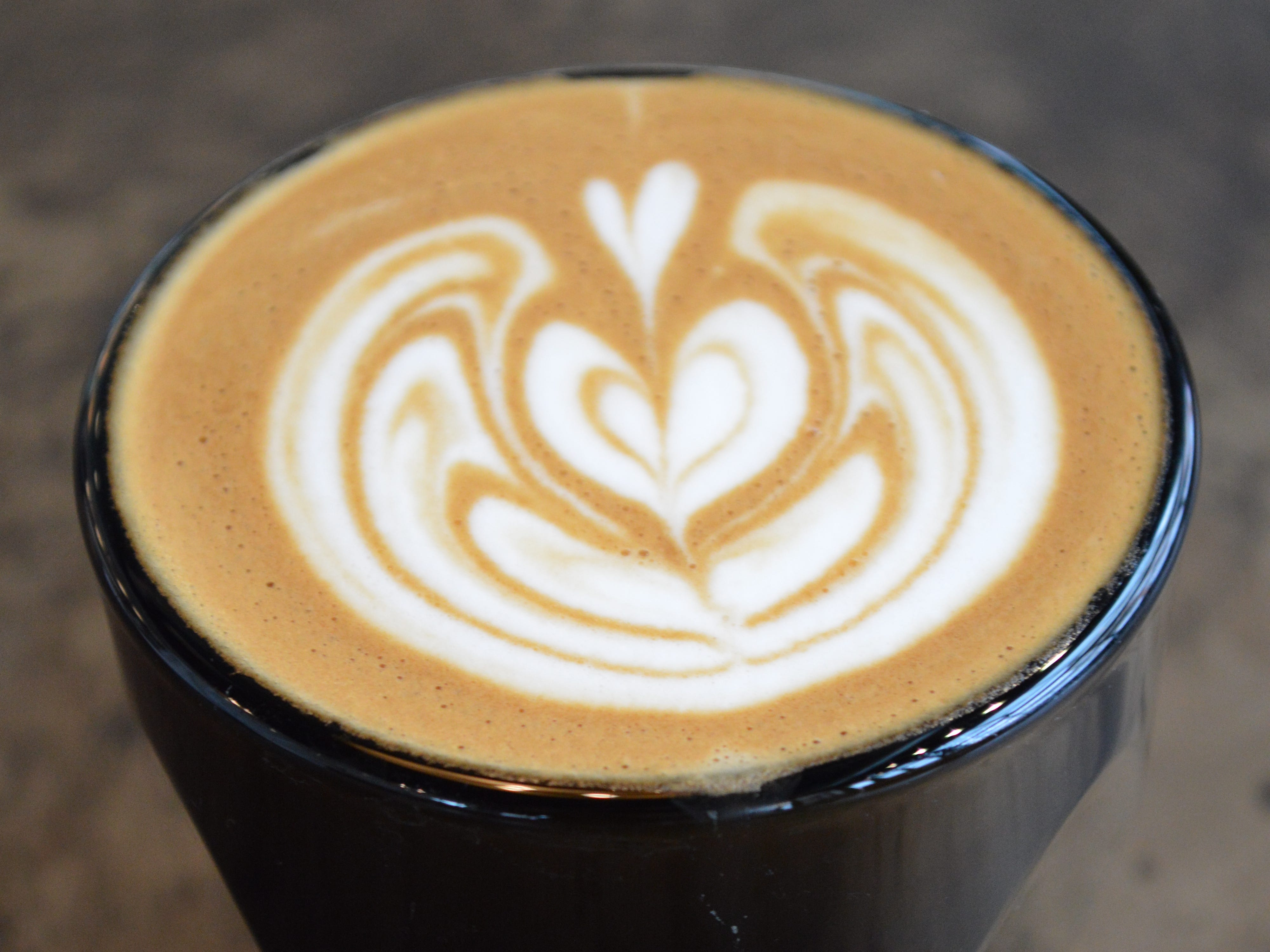 A cortado, which is made with an equal amount of espresso and milk, is $3.59.