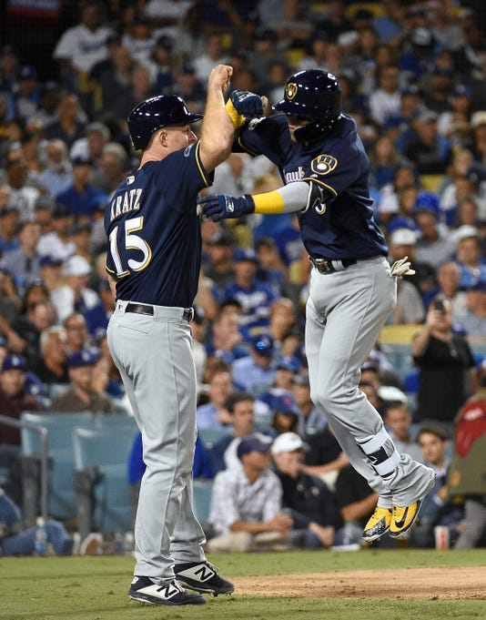 League Championship Series Milwaukee Brewers V Los Angeles Dodgers Game Three