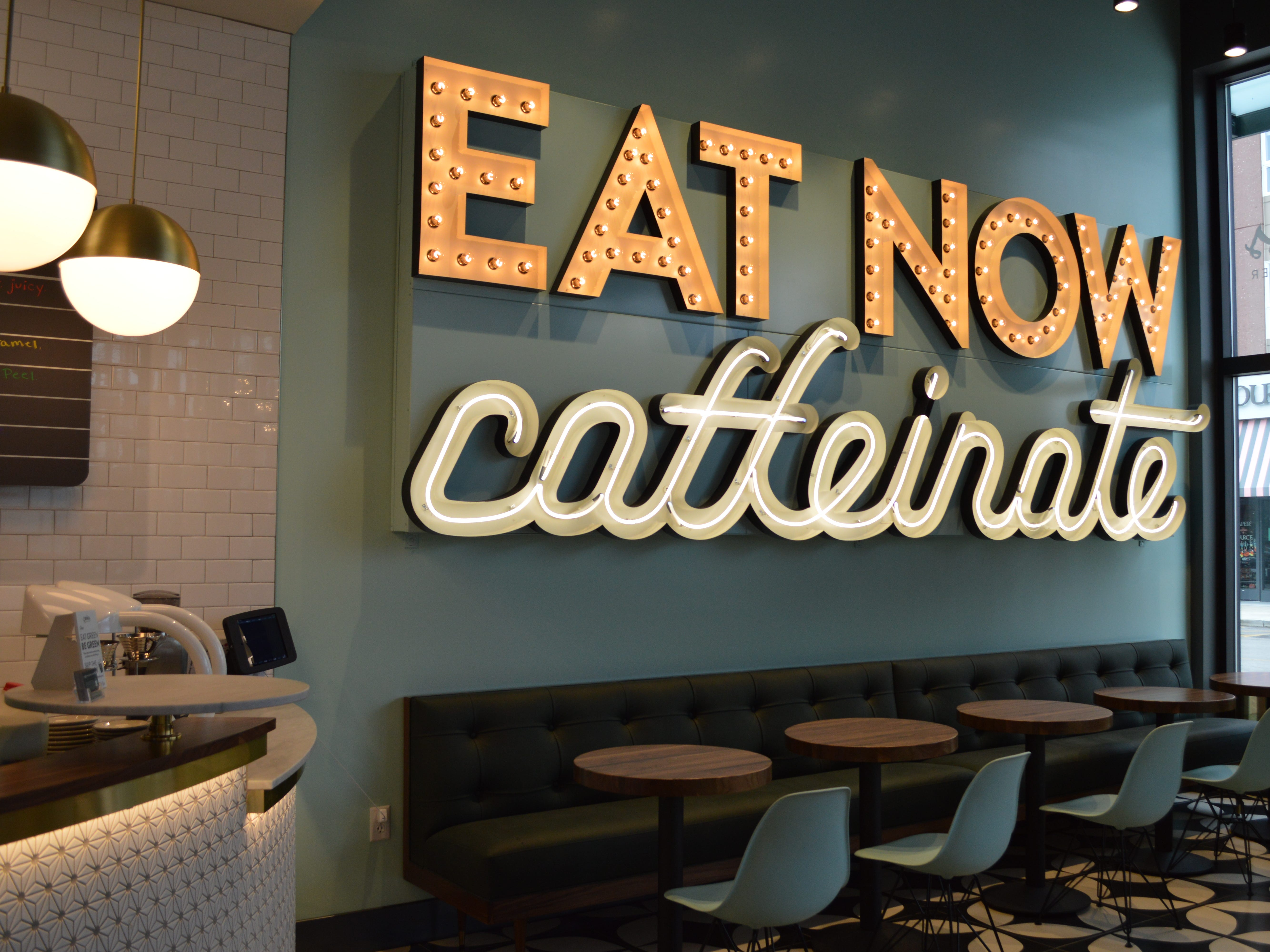 Xan Creative designer Dana Ensing said the interior was mid-century-inspired with a modern, energetic twist.