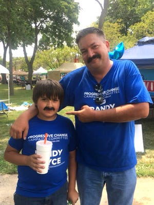 Democratic congressional Candidate Randy Bryce and his ex-wife say the attack ads calling him a 'deadbeat' are taking a toll on their 12-year-old son.