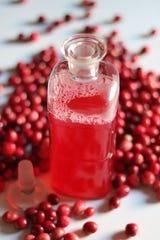 "Spicebush Cranberry Fizz ""blends beautifully with applejack, bourbon, whiskey, dark rum and tequila,"" according to creator Marie Viljoen."