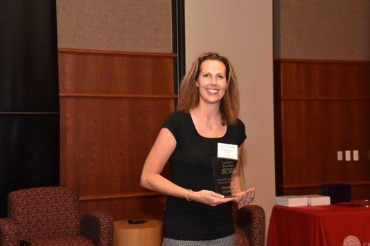 Heidi Hamilton With Advanced Career Teaching Award