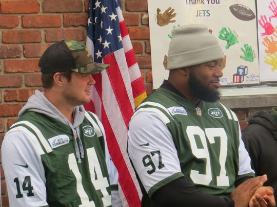 New York Jets rookies visited the Head Start Community Program of Morris County to dedicate a new playground paid for by a $75,000 grant from the Florham Park-based NFL team's PLAY 60 program. Oct. 16, 2018