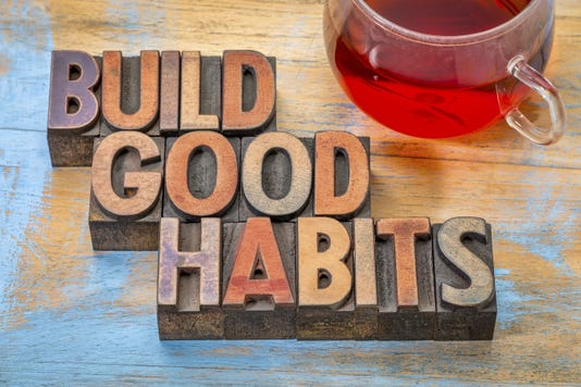 Buid Good Habits Motivational Concept