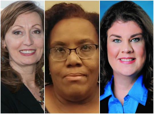 Kelly Northcutt, Ginger Smith and Dawn White, pictured from left to right, are all competing to represent Tennessee Senate District 13.