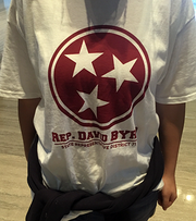 This T-shirt was given to high school students by Rep. David Byrd.