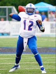 Former Hillsboro quarterback Micheal Hughes will replace Demry Croft as Tennessee State's starter. Croft will miss the rest of the season with a shoulder injury.