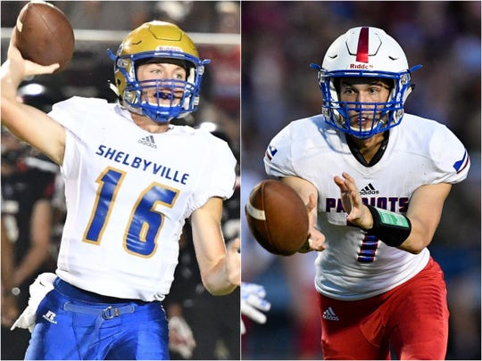 Shelbyville's Grayson Tramel (left) and Page's Cade Walker (right)