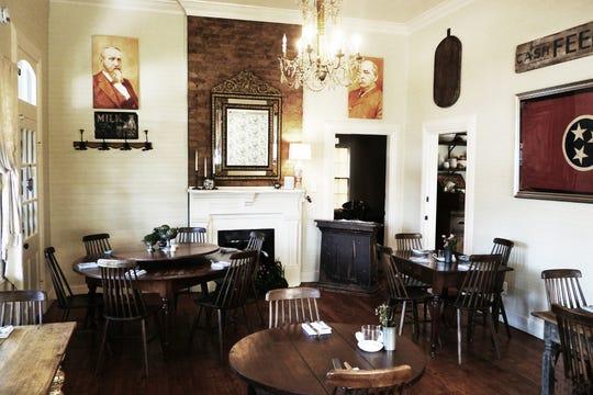 The dining room of 1892 restaurant in Leiper's Fork.