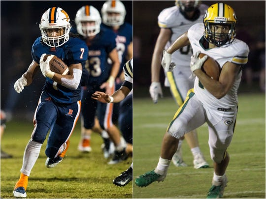 Beech's Ja'sean Parks (left) and Gallatin's Spencer Briggs (right).