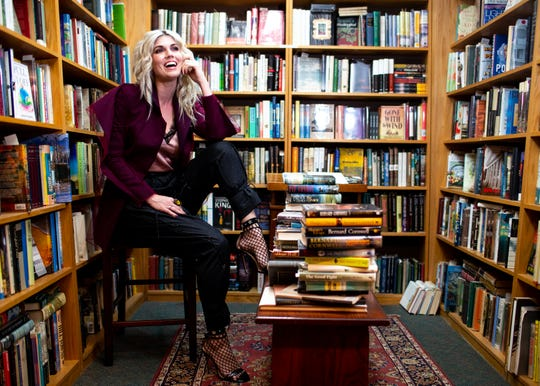 "Julianna Zobrist poses for a photo at Landmark Booksellers Tuesday, Oct. 16, 2018, in Franklin , Tenn. The Franklin resident is the author of the new book, ""Pull It Off: Removing Your Fears and Putting On Confidence"" and the wife of Chicago Cubs World Series MVP Ben Zobrist."