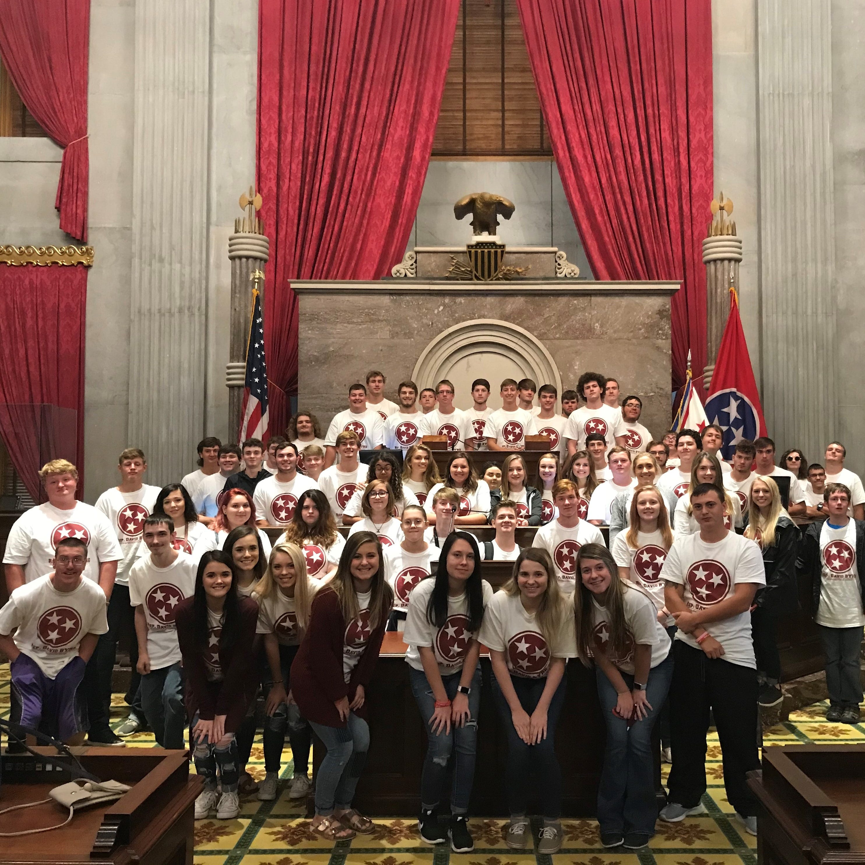 Wayne County students given Republican candidate's T-shirts to wear on Capitol field trip
