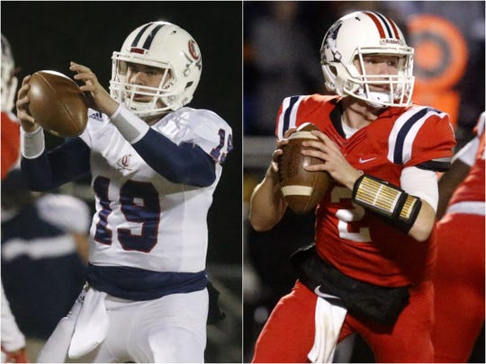 Cookeville's Blaine Espinosa (left) and Cookeville's Brevin Linnell (right)