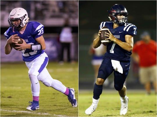 Portland's Ryan Cole (left) and Creek Wood's Mitch Duke (right)