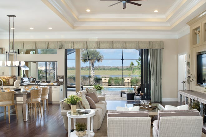 Seven unfurnished residences are under construction in Minto Florida's Dundee neighborhood at TwinEagles, including three Prestwick Grand floor plans.