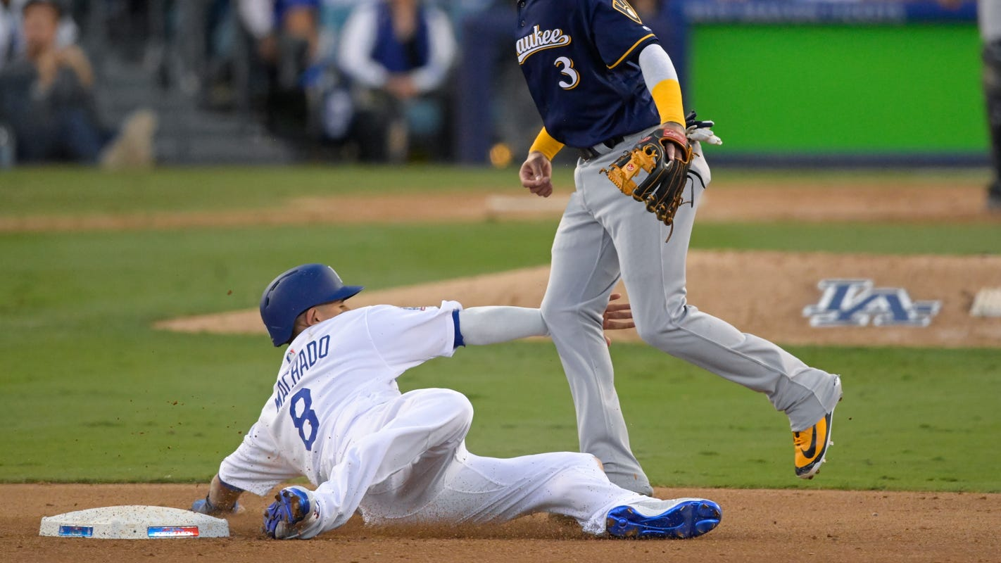 a53a5313 Dodgers' Manny Machado slide results in 'Utley rule' double play