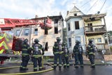 Raw video: Fire in vacant house in Paterson