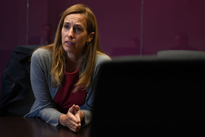 Mikie Sherrill during an editorial board meeting on Tuesday, October 16, 2018.