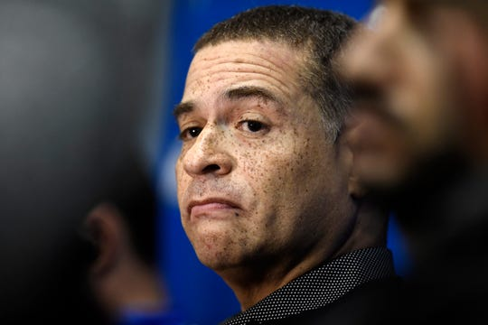 New York Knicks general manager Scott Perry will be evaluating draft prospects this week.