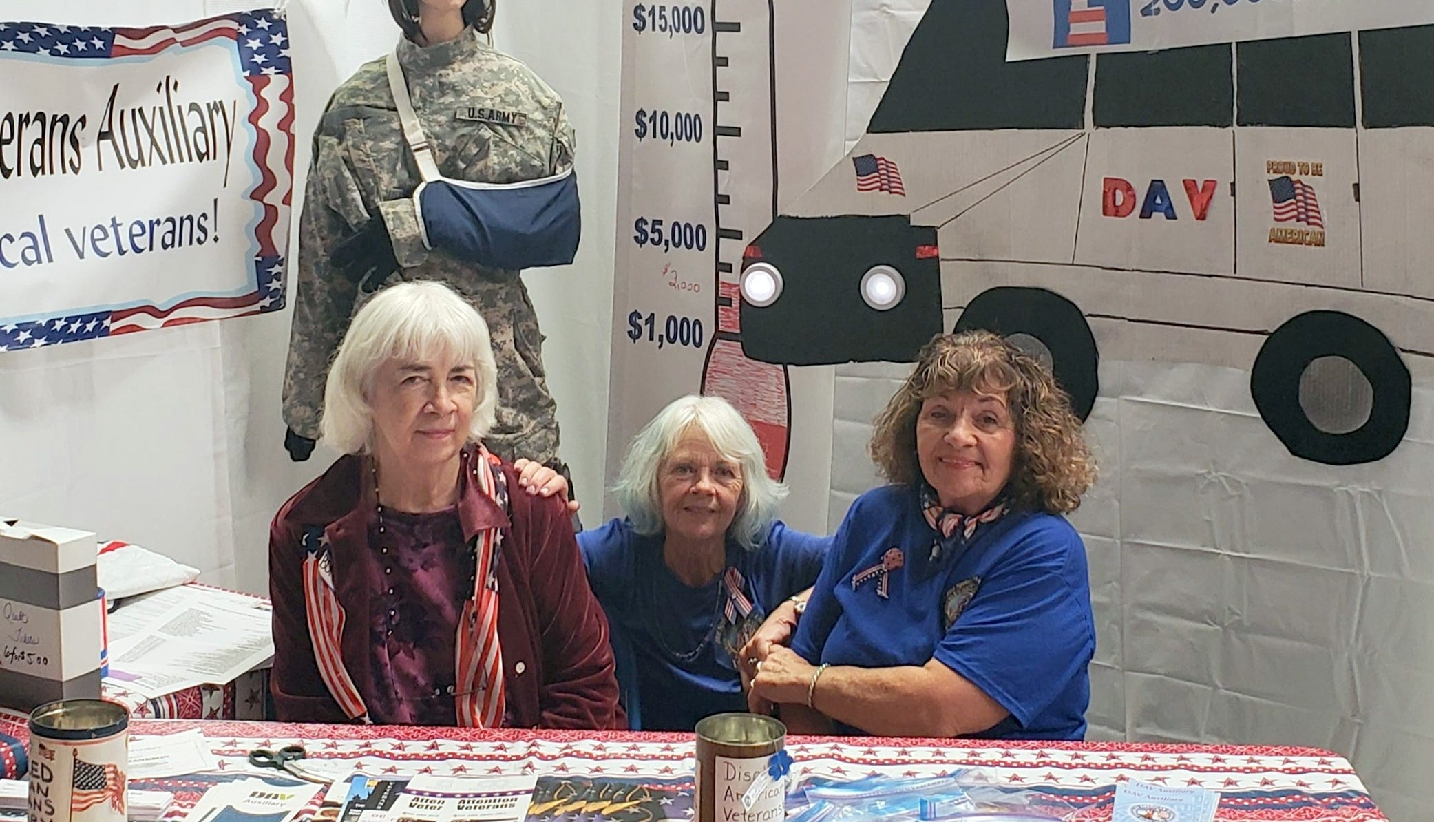 Officers of the Sierra County Disabled American Veterans Auxiliary are, from left, Bonnie Warwick, secretary/treasurer; Debbie Hilbish, commander; and Patricia Rivera, 1st vice commander.