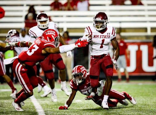 In The Football Game Between Ull And New Mexico State University At Cajun Field In Lafayette Louisiana On October 13 2018