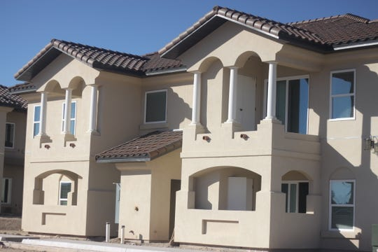 An apartment complex is under construction in Carlsbad.