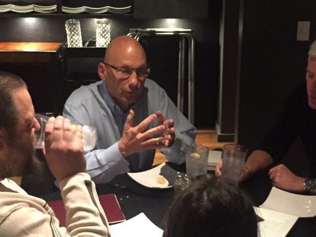 Republican United States Senate candidate Mick Rich visited with Carlsbad residents Oct. 15 at the Yellow Brix Restaurant. Rich, is facing Libertarian Gary Johnson and incumbent Democrat Martin Heinrich Nov. 6.