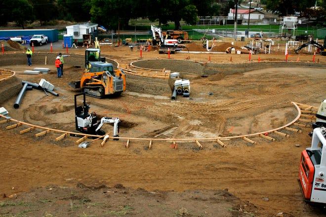Construction of Farmington's new water park continues Oct. 11 at Brookside Park in Farmington.
