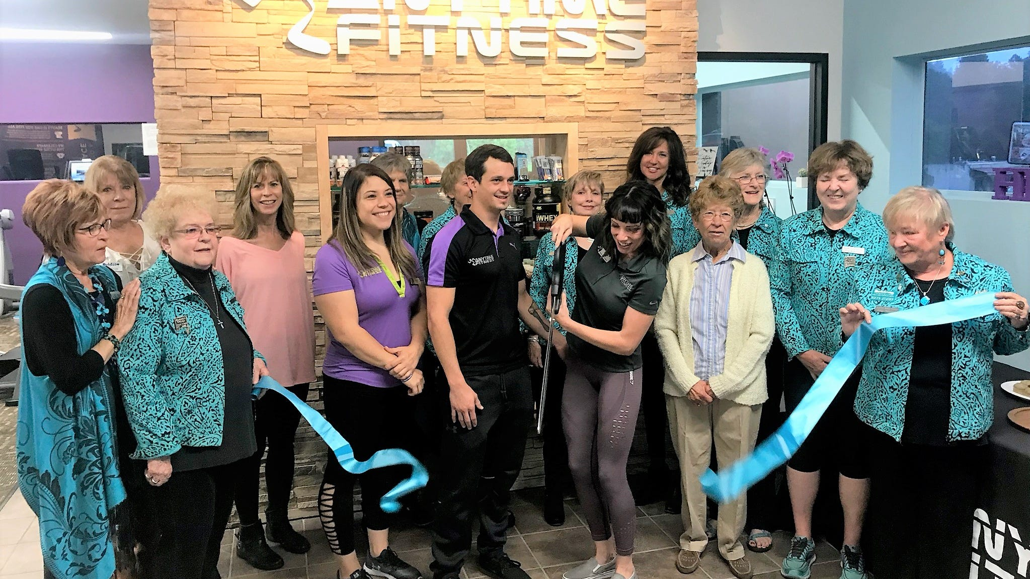 Chamber of Commerce and Valley greeters welcome Amytime Fitness to Ruidoso.