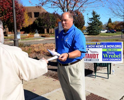 Wayne Wrobel campaigns on Election Day back in 2015, a race he won reelection in. Wrobel recently died after a battle with cancer. He was 64.