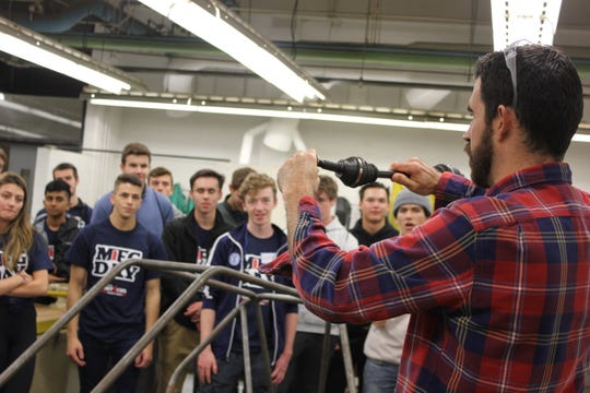 Eastern Michigan University was one of several stops for students participating in manufacturing day.