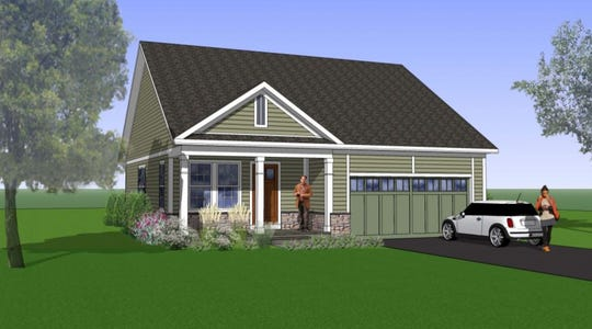 A rendering of one of the styles of homes that was proposed for the site.