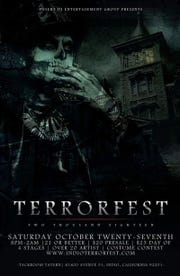 The terrorfest in Indio includes four stages of terror-ific fun!