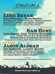 The Stagecoach 2019 lineup is official. Luke Bryan, Sam Hunt and Jason Aldean headline.