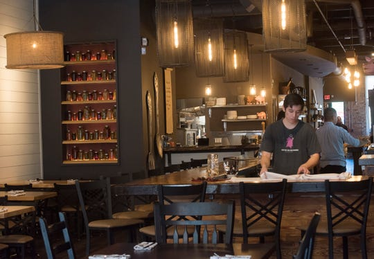 Take a look inside of Frank and Jane Taylor's newest restaurant in downtown Pensacola, Urban Swinery, on Tuesday, Oct. 16, 2018.