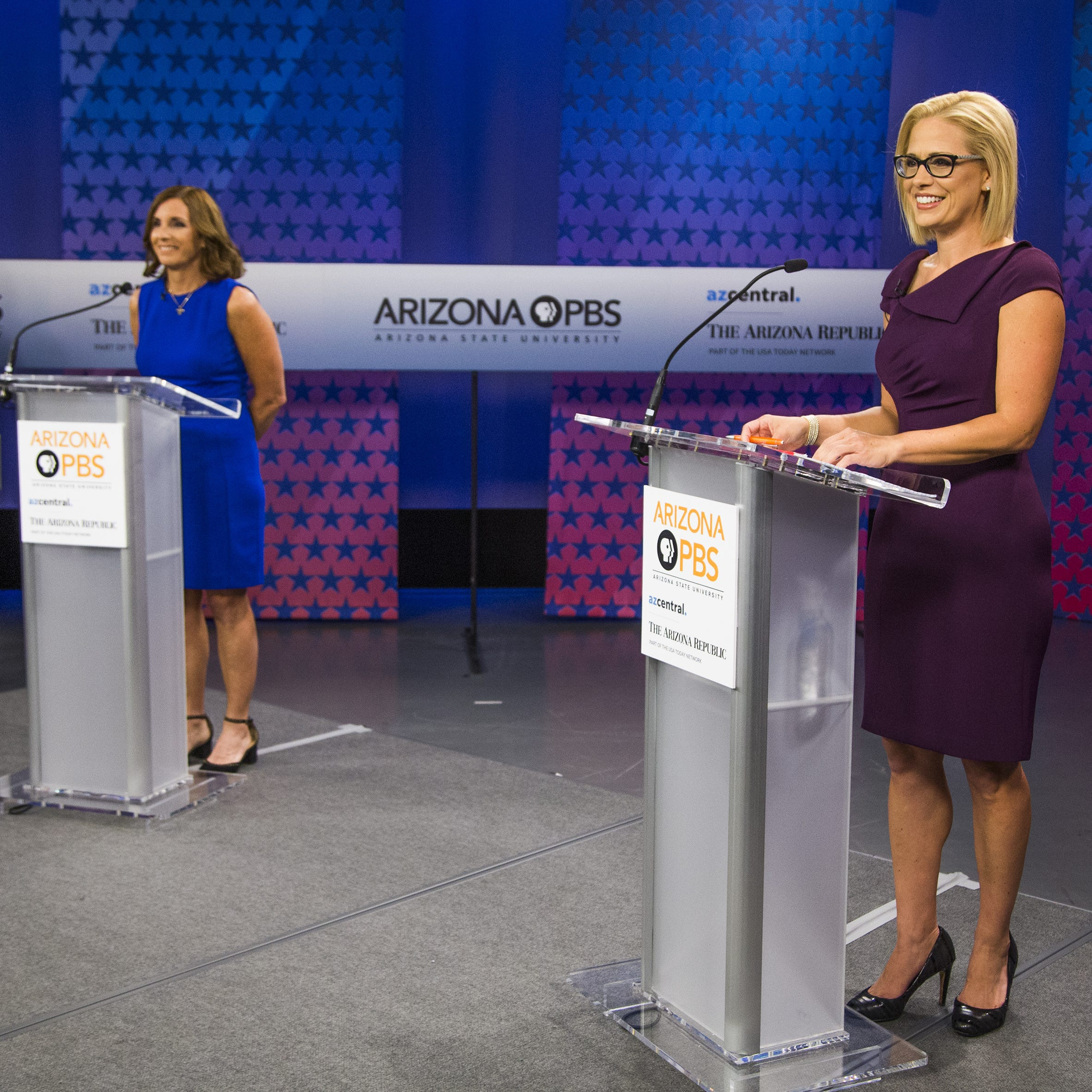 McSally and Sinema debate in U.S. Senate race for Arizona seat