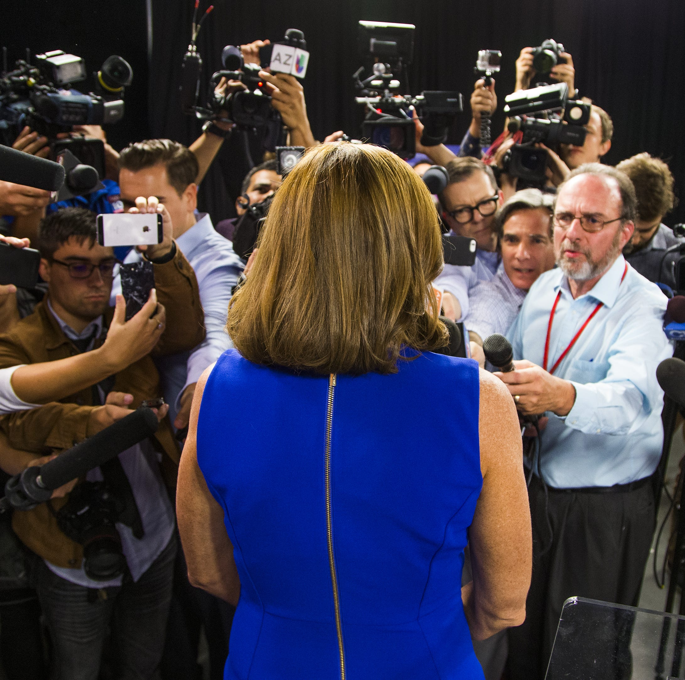 Kyrsten Sinema was a robot. Martha McSally was over-caffeinated. So who won the debate?