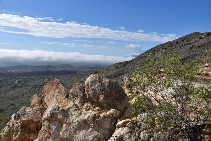 View of the Salt and Gila river basins from the National Trail in South Mountain Park.