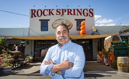Rock Springs Cafe in Black Canyon City will celebrate its 100-year anniversary with a music festival. The cafe is famous around the country for its delicious pies. Owner Augie Perry proudly stands in front of the Arizona institution.