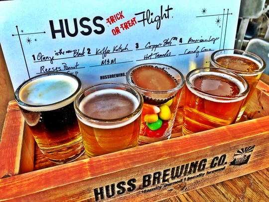 The Trick or Treat flight at Huss Brewing Co.
