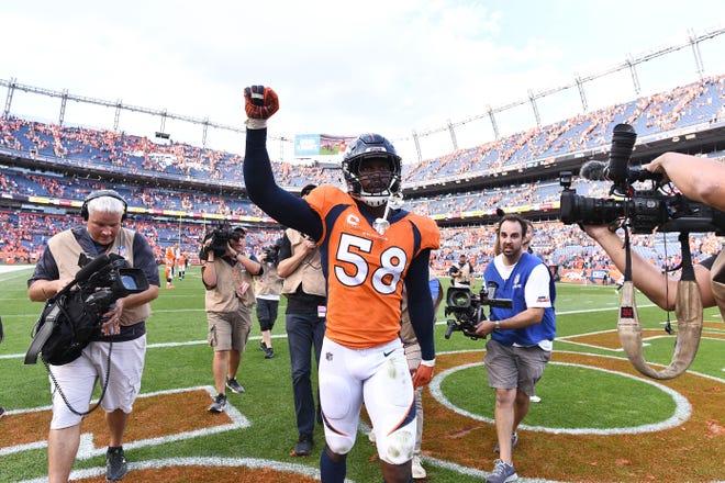 Denver Broncos linebacker Von Miller (58) is very confident in his team's chances against the Arizona Cardinals.