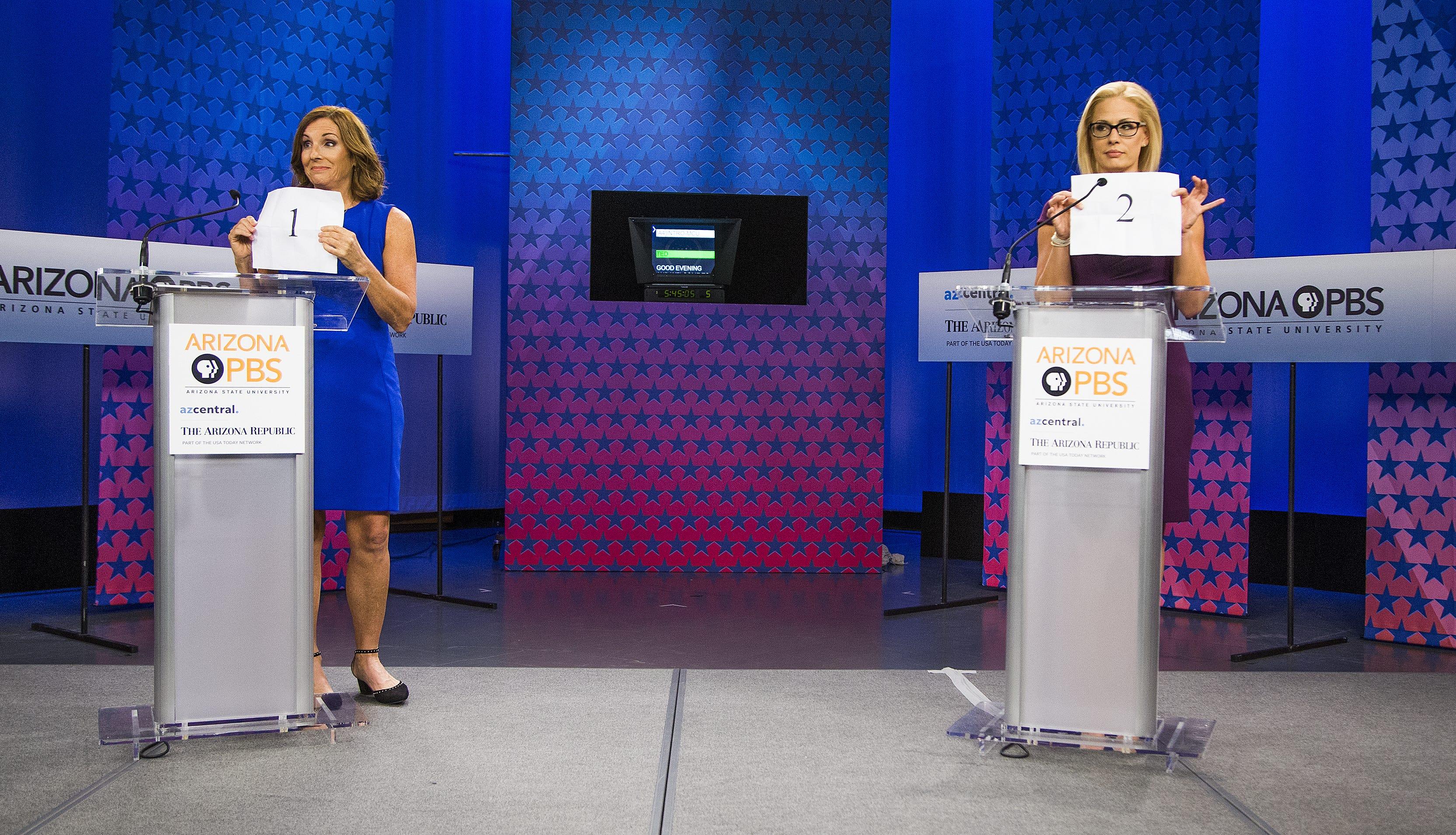 Kyrsten Sinema, Martha McSally square off over health care, immigration in Senate debate