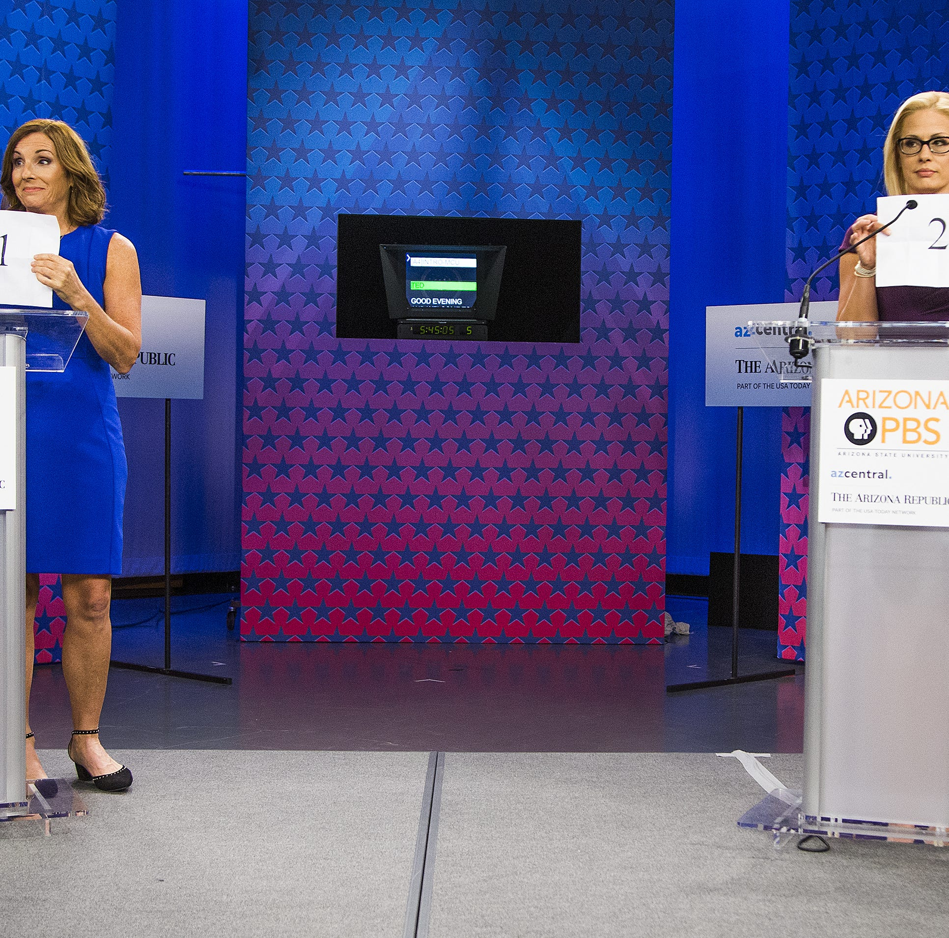 Kyrsten Sinema, Martha McSally square off over health care, immigration in Senate debate
