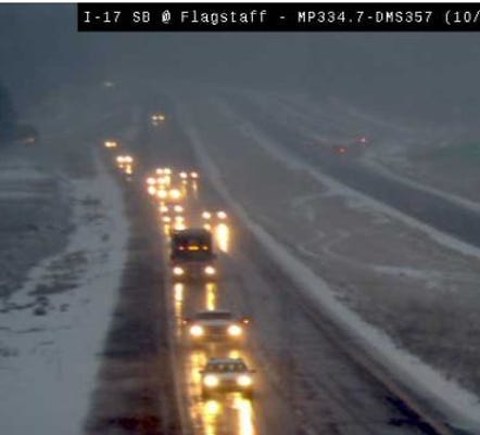 Wet snow and rain in Flagstaff