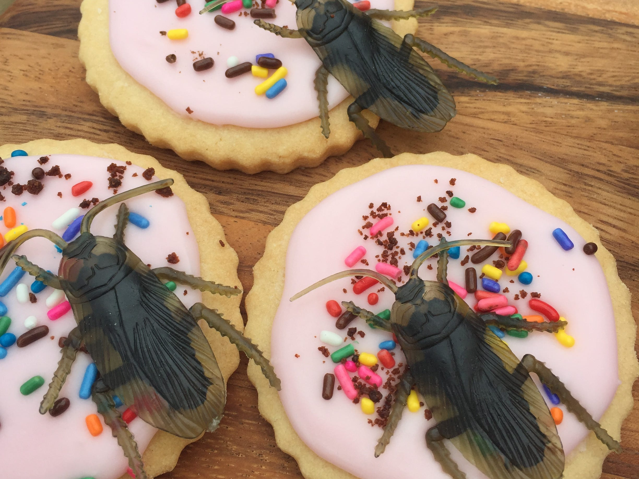 Creepy sugar cookies at Tracy Dempsey Originals.