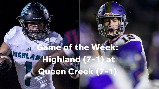 Game of the Week:  Highland (7-1) at Queen Creek (7-1)