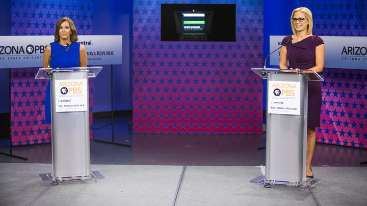Martha McSally, Kyrsten Sinema give closing statements at the U.S. Senate debate